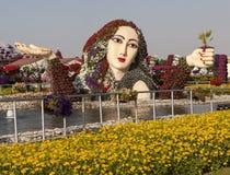 迪拜,阿拉伯联合酋长国- 2014年12月23日:照片花公园(迪拜奇迹庭院) 库存图片