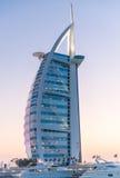 迪拜,阿拉伯联合酋长国- 2015年10月9日:Burj Al阿拉伯人,一最著名 免版税库存图片