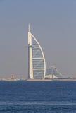 迪拜,阿拉伯联合酋长国- 2016年5月15日:Burj Al阿拉伯人 库存照片