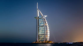 迪拜,阿拉伯联合酋长国- 2013年5月31日:Burj El阿拉伯人旅馆 免版税图库摄影