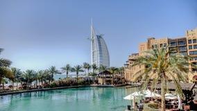 迪拜,阿拉伯联合酋长国- 2013年5月31日:Burj El阿拉伯人旅馆 库存图片