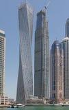 迪拜,阿拉伯联合酋长国- 2016年5月15日:Cayan塔 免版税库存照片