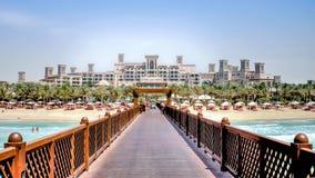 迪拜,阿拉伯联合酋长国- 2013年5月31日:Jumeirah海滩旅馆,迪拜 免版税库存照片