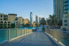 迪拜,阿联酋, 15 11 2015晴天在都市城市, 免版税库存照片