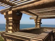 迪拜,阿联酋, Aquaventure,看法,石头 免版税库存图片