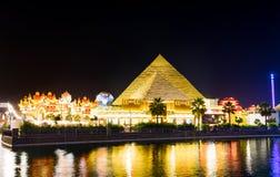 迪拜,阿联酋- 2017年11月6日:微型pyrami 库存图片