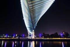 迪拜,阿联酋- 2018年5月31日:迪拜水运河fo 免版税图库摄影