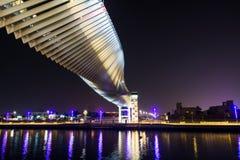 迪拜,阿联酋- 2018年5月31日:迪拜水运河fo 免版税库存照片