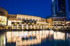 迪拜,阿联酋- 2018年2月5日:迪拜购物中心moder 免版税图库摄影