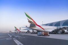 迪拜,阿联酋- 2018年4月11日-酋长管辖区航空公司 免版税图库摄影