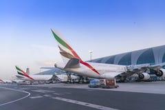 迪拜,阿联酋- 2018年4月11日-酋长管辖区航空公司 免版税库存照片