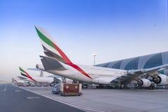 迪拜,阿联酋- 2018年4月11日-酋长管辖区航空公司 图库摄影