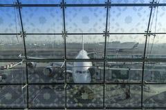 迪拜,阿联酋- 2018年4月11日-酋长管辖区航空公司A 免版税图库摄影