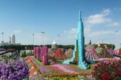 迪拜,阿联酋- 2016年12月8日:迪拜奇迹庭院是最大的自然花园在世界上 免版税库存图片