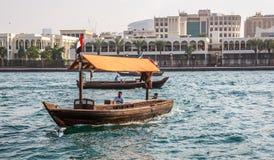 迪拜, UAE-JANUARY 18 :传统Abra运送2 1月18日, 库存图片