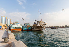 迪拜, UAE-JANUARY 18 :传统Abra运送2 1月18日, 图库摄影