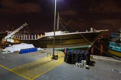 迪拜, UAE-JANUARY 18 :传统Abra运送2 1月18日, 免版税库存图片