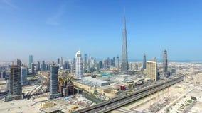迪拜-对比城市 免版税库存照片