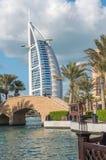 迪拜- 2016年12月11日:世界的最豪华的旅馆Burj Al 库存图片