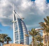 迪拜- 2016年12月11日:世界的最豪华的旅馆Burj Al 免版税库存照片