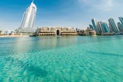 迪拜- 2015年1月10日:地址旅馆 免版税库存照片