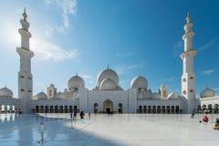 迪拜- 2015年1月9日:扎耶德回教族长清真寺 图库摄影