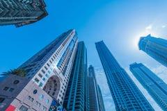迪拜- 2015年1月10日:马里奥特旅馆 库存照片