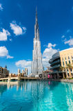 迪拜- 2015年11月22日:Burj哈利法塔 这个摩天大楼我 免版税库存照片