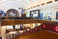 迪拜购物中心,街市迪拜,阿联酋内部  库存图片