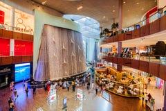 迪拜购物中心,迪拜,阿拉伯联合酋长国 免版税图库摄影