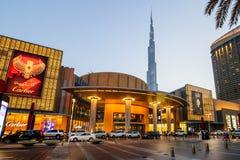 迪拜购物中心,迪拜,阿拉伯联合酋长国 免版税库存照片