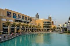 迪拜购物中心,迪拜,阿联酋 免版税库存图片