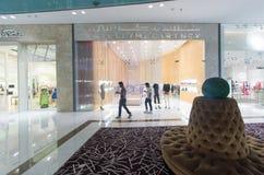 迪拜购物中心 内部 免版税图库摄影