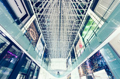 迪拜购物中心 内部 库存照片