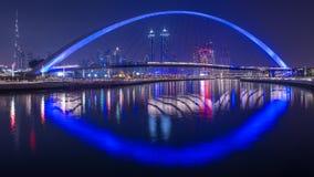 迪拜水运河 免版税库存图片