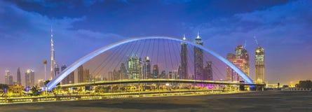迪拜水运河 库存照片