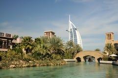 迪拜jumeirah madinat手段 库存照片