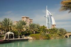 迪拜jumeirah madinat手段 免版税图库摄影