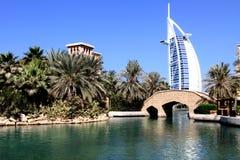 迪拜jumeirah madinat 免版税库存图片