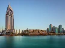 迪拜Souq Al Bahaar下午 免版税库存照片
