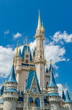 迪斯尼不可思议的王国城堡 图库摄影