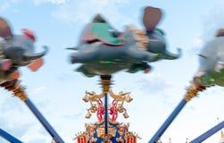 迪斯尼世界不可思议的王国Dumbo乘驾 免版税库存照片