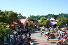 迪斯尼乐园印度桃花心木的城镇 库存照片