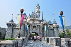 迪斯尼乐园城堡,香港 免版税图库摄影