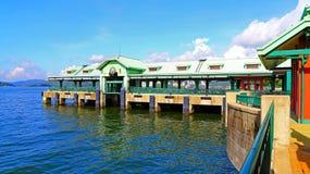 迪斯尼乐园手段码头,香港 免版税库存照片