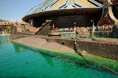 迪斯尼乐园模型舡鱼船 库存照片