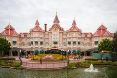 迪斯尼乐园的巴黎迪斯尼旅馆 免版税库存图片