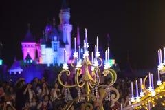 迪斯尼乐园神仙的字符蜡烛 库存图片