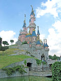 迪斯尼乐园巴黎城堡第15周年 库存图片