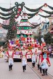 迪斯尼圣诞节游行 库存照片
